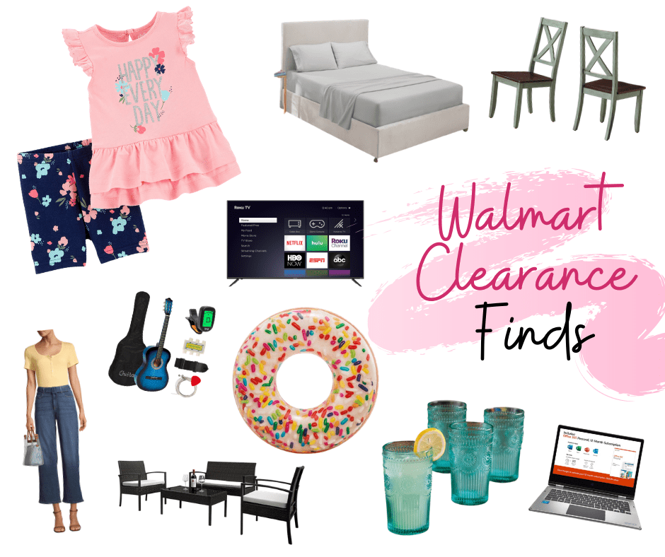 Walmart Clearance collage of finds