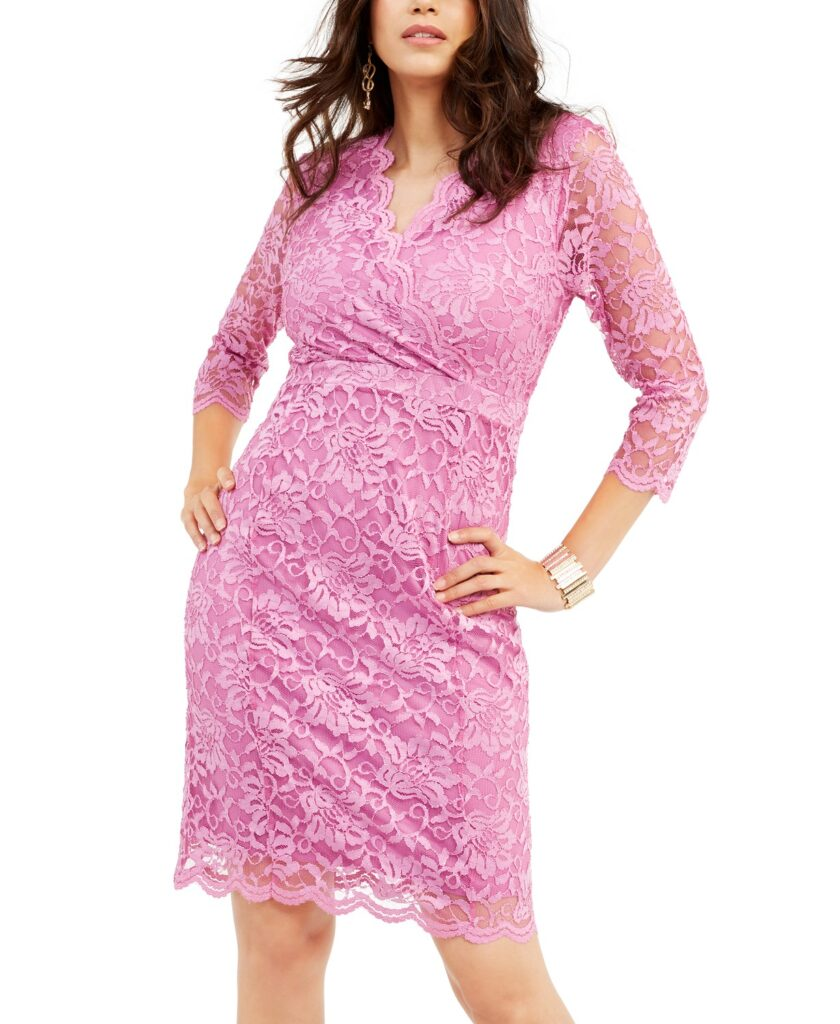 Macy's Spring Dress Sale pink lace