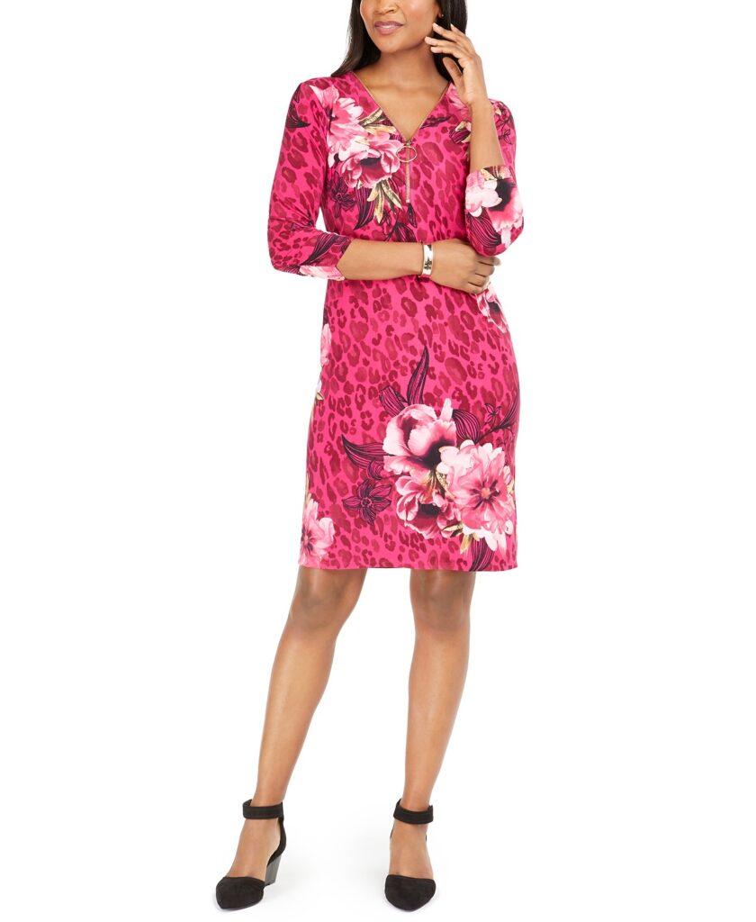 Macy's Spring Dress Sale pink floral