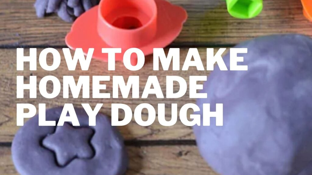 """Learn how to make homemade Play Dough with our """"recipe."""" Keep kids busy at home and have some fun. bonus- it smells wonderful!"""