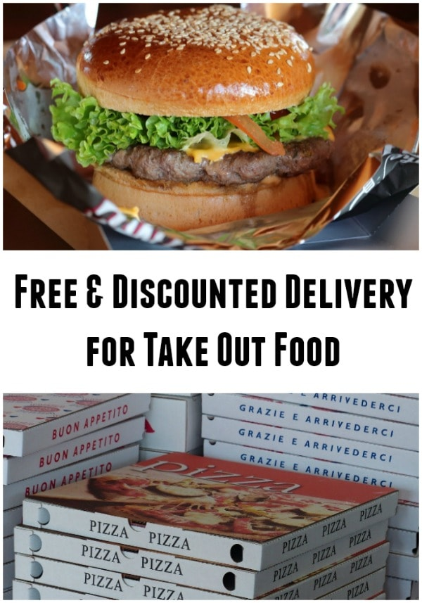 list of free and discounted delivery for takeout food from favorite restaurants