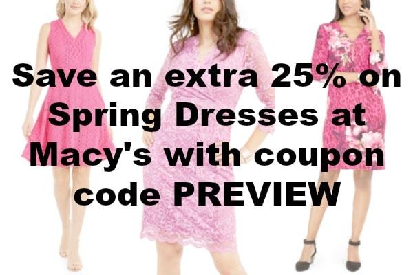 Macy's Spring Dress Sale