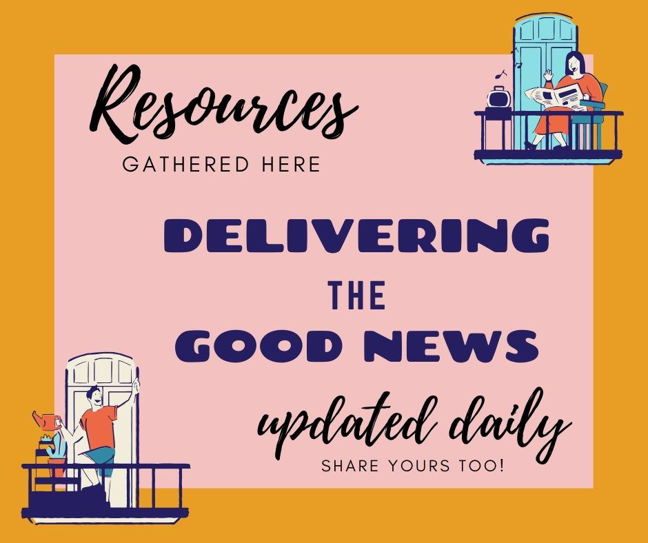 A roundup up of resources, recipes, free workouts, ways to keep kids busy, and all the good tips we can find. Updated daily