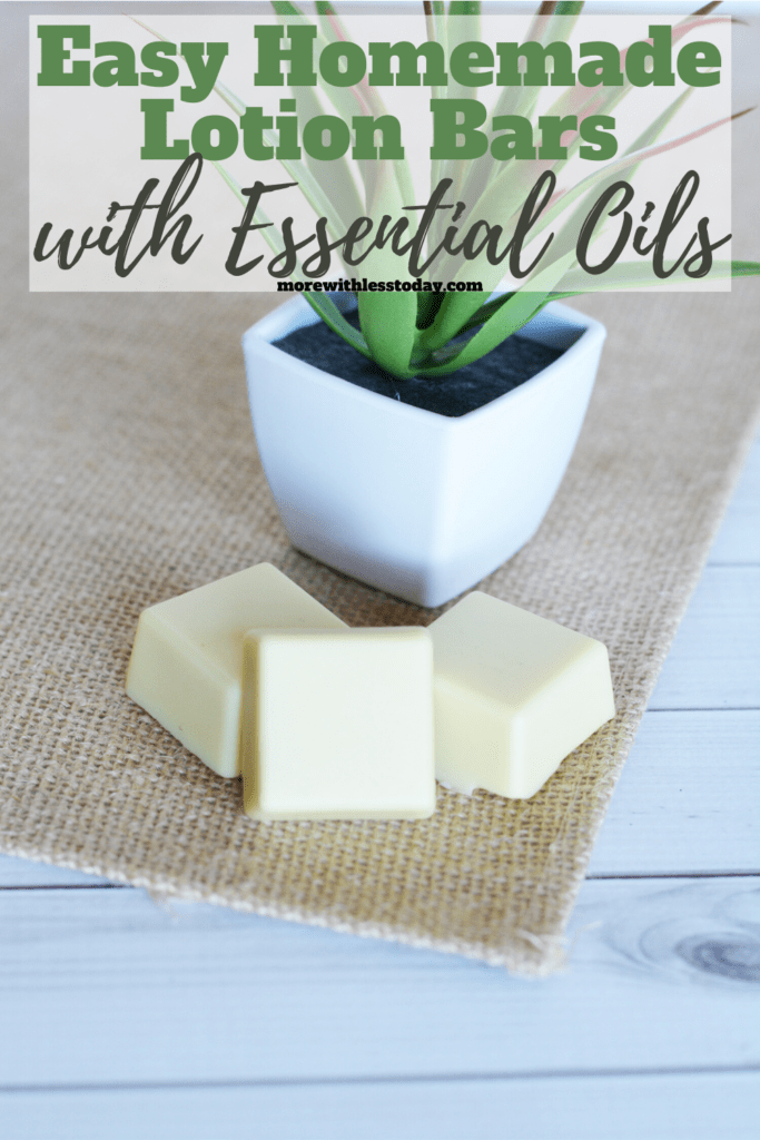 step by step directions for easy Homemade Lotion Bars with Essential Oils