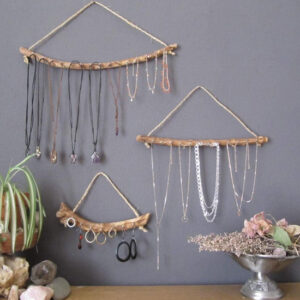 Olive Wood Driftwood Jewelry Organizer from Etsy stylish organizing items