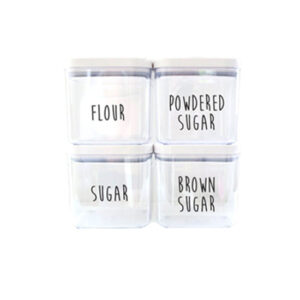 Custom OXO Pantry Canister Rae Dunn Inspired Organized Farmhouse Kitchen Pantry Custom Vinyl Decals