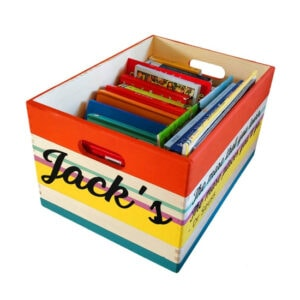 Painted Wooden Personalised Custom Book Storage