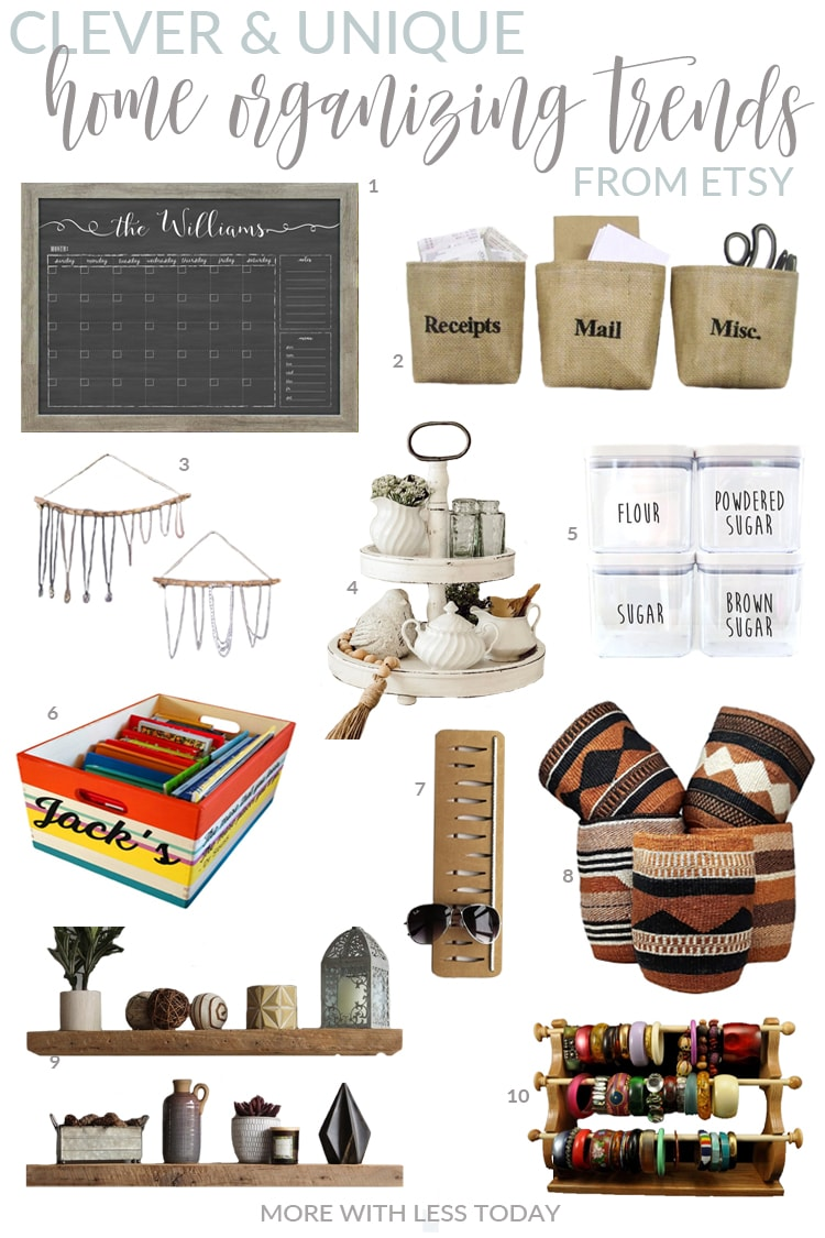 stylish organizing items from Etsy sellers