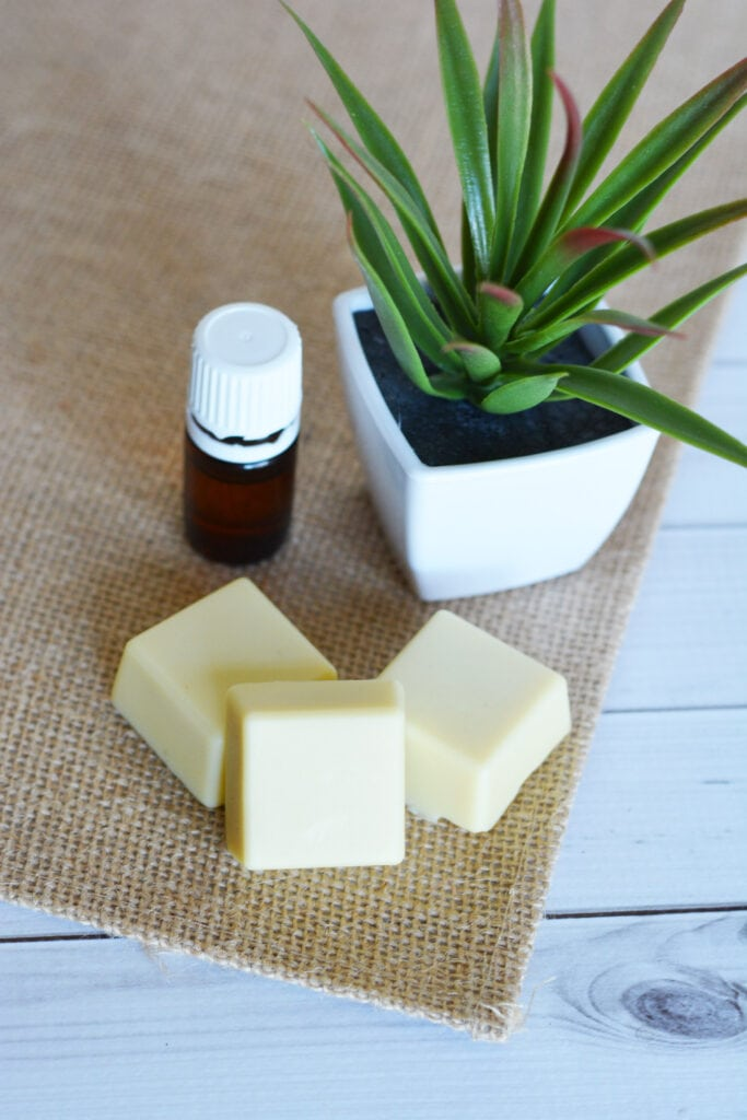 how to make Easy Homemade Lotion Bars with Essential Oils