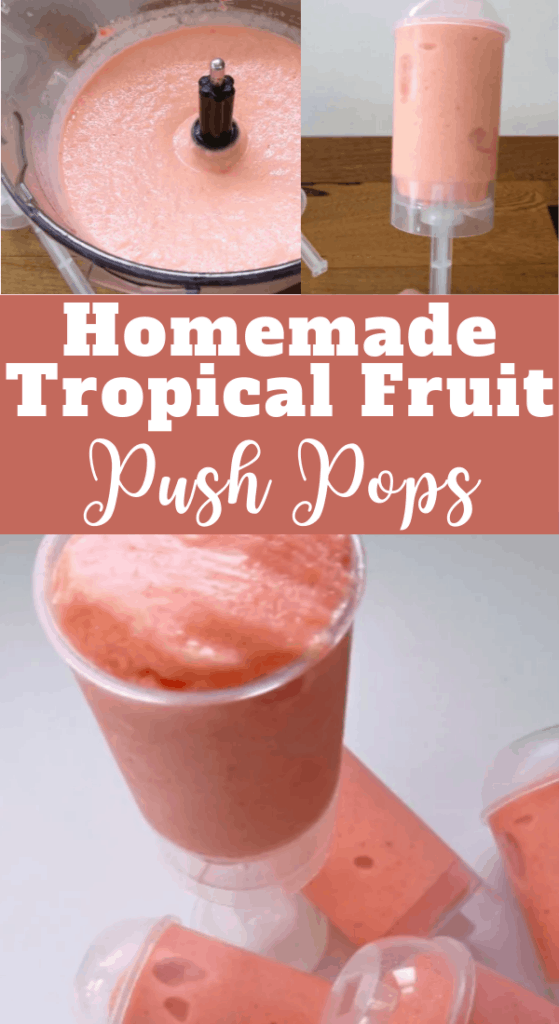 Homemade Tropical Fruit Push Pops