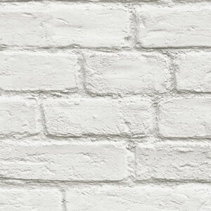 Transform White Brick Peel and Stick Wallpaper