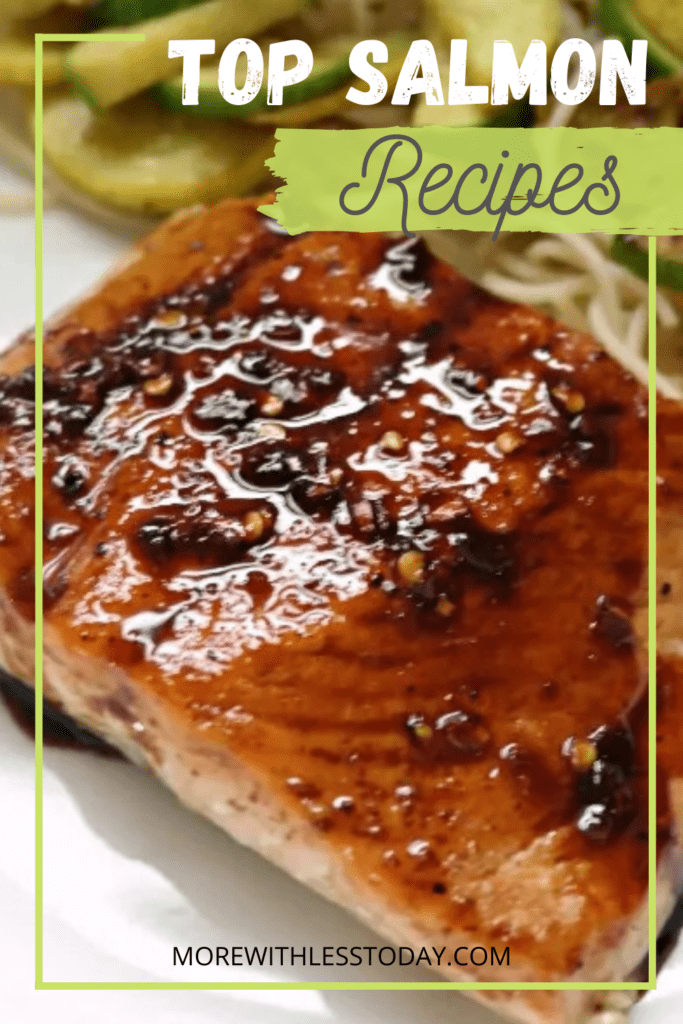 Top Salmon Recipes with a photo of cooked salmon