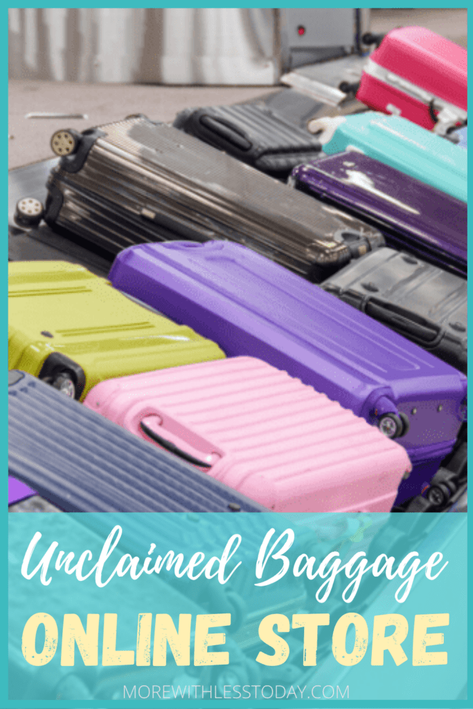 photo of unclaimed luggage in the unclaimed baggage online store