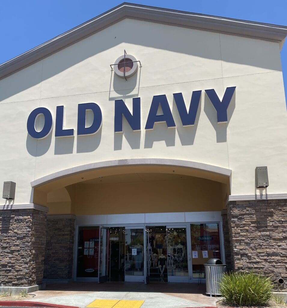 photo of outside an Old Navy store