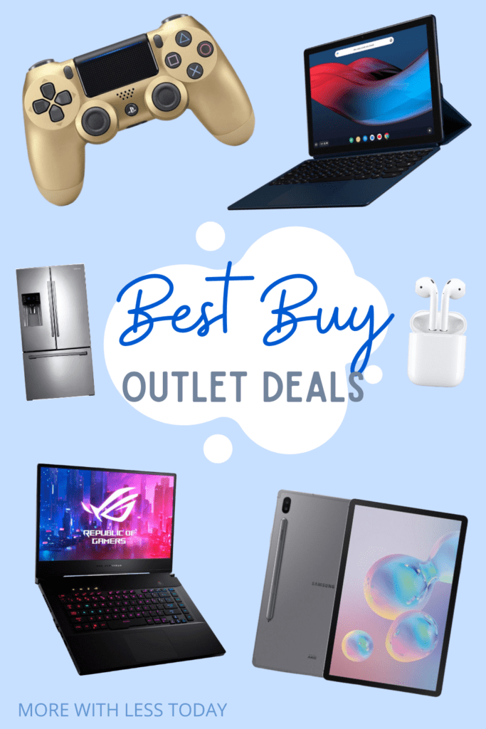 Best Buy outlet deals collage with tech items