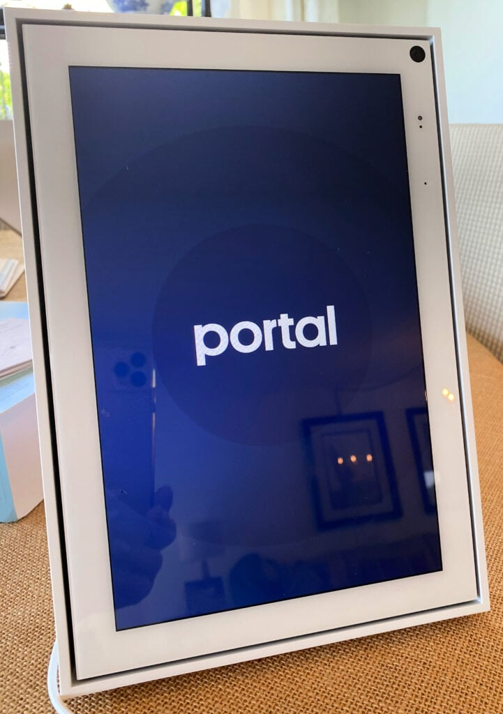 "Facebook Portal 10"" device in white"