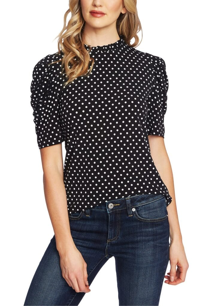 Polka Dot Puff Sleeve Top Nordstrom Anniversary Sale