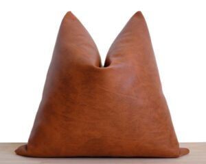 Faux Leather Pillow Cover | 'Naima'