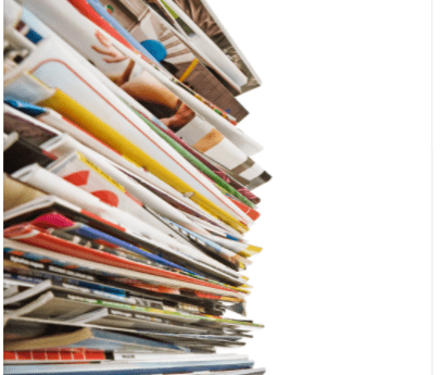 a tack of magazines