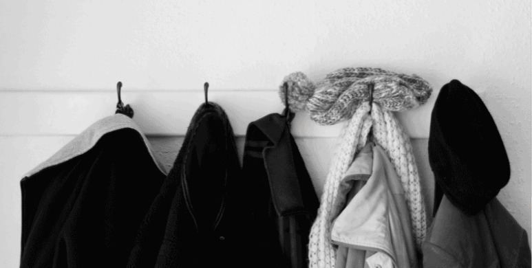 coats on hooks