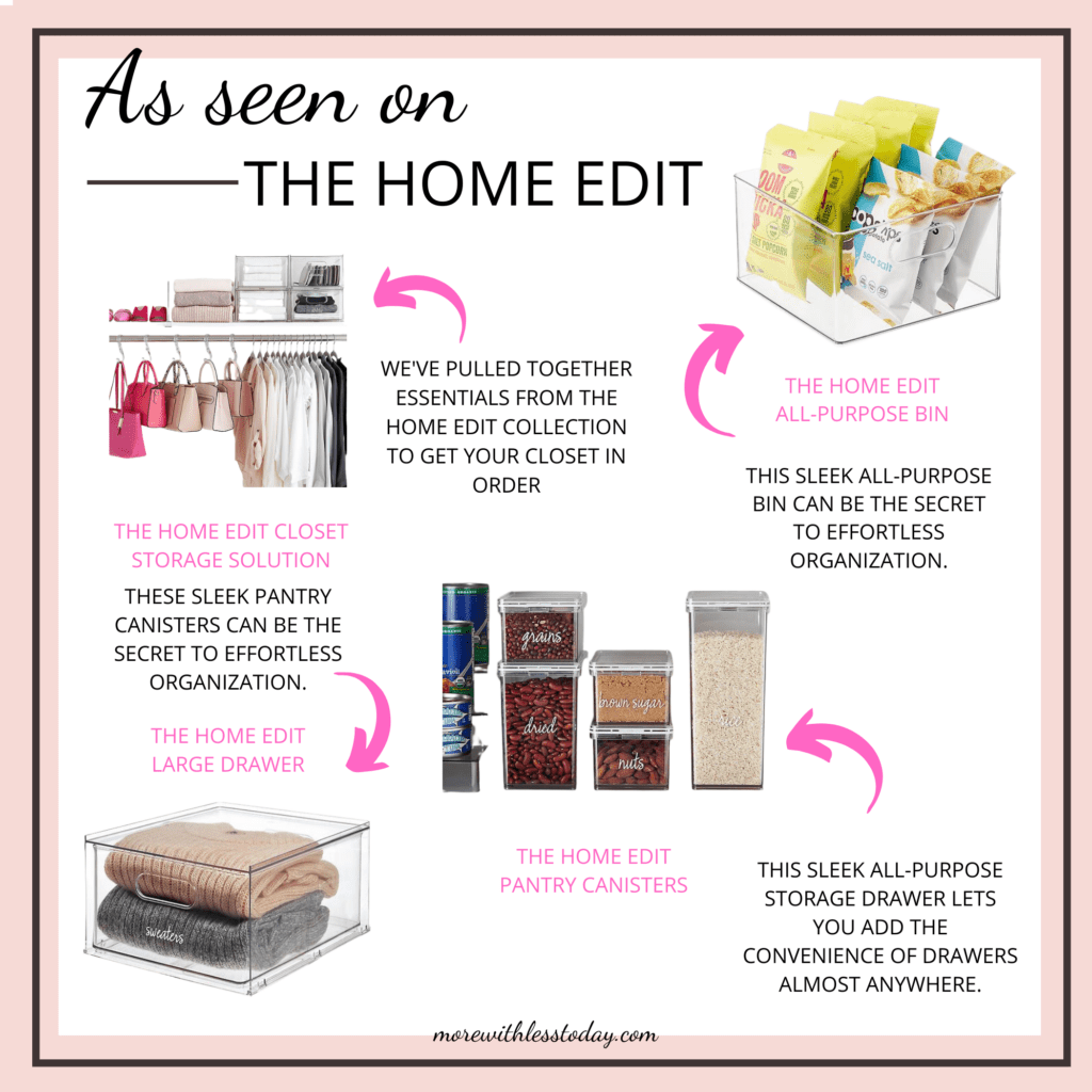 favorite organizing products as seen on The Home Edit