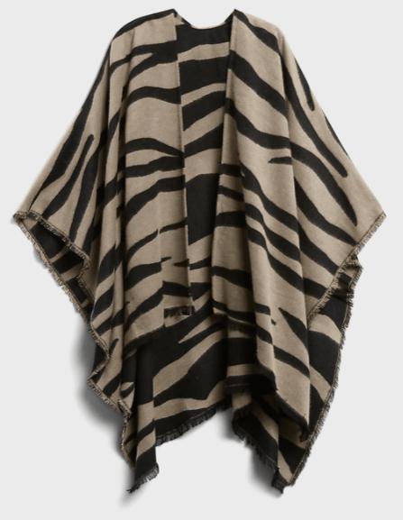 Reversible Zebra Poncho