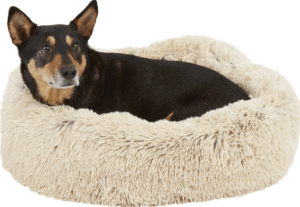 Best Friends by Sheri The Original Calming Shag Vegan Fur Donut Cuddler Cat & Dog Bed