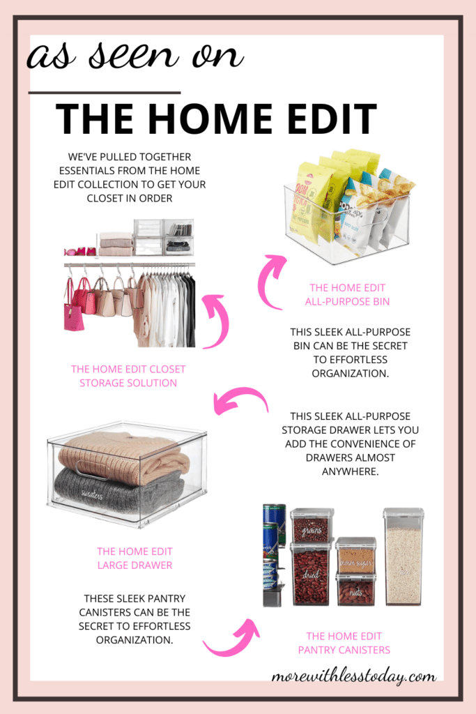 favorite organizing systems and products as seen on The Home Edit