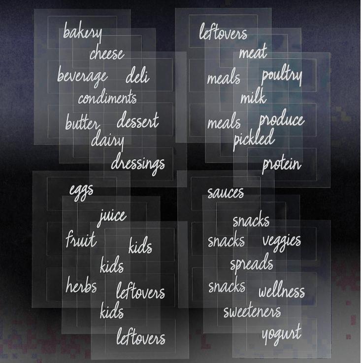 The Home Edit Kitchen & Fridge Labels