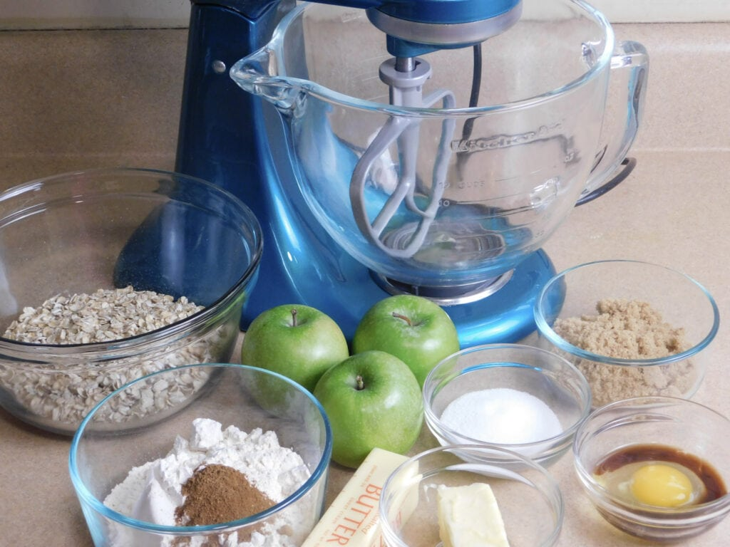 ingredients for Apple Oatmeal Cookies