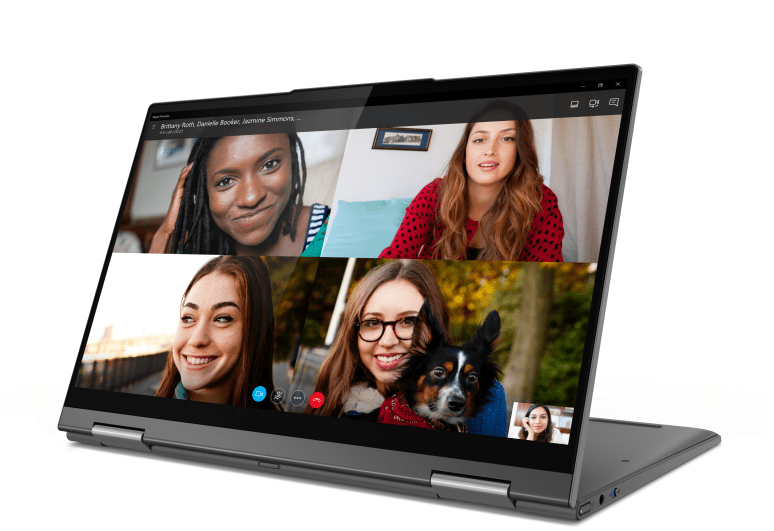 Lenovo Flex 5G on a video chat