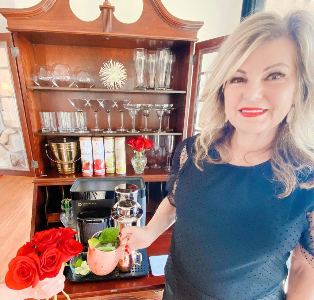 Lori Felix on a date night at home with Drinkworks by Keurig