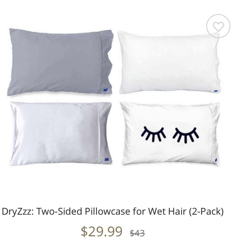 DryZzz: Two-Sided Pillowcase for Wet Hair (2-Pack) seen on the Kelly Clarkson Show