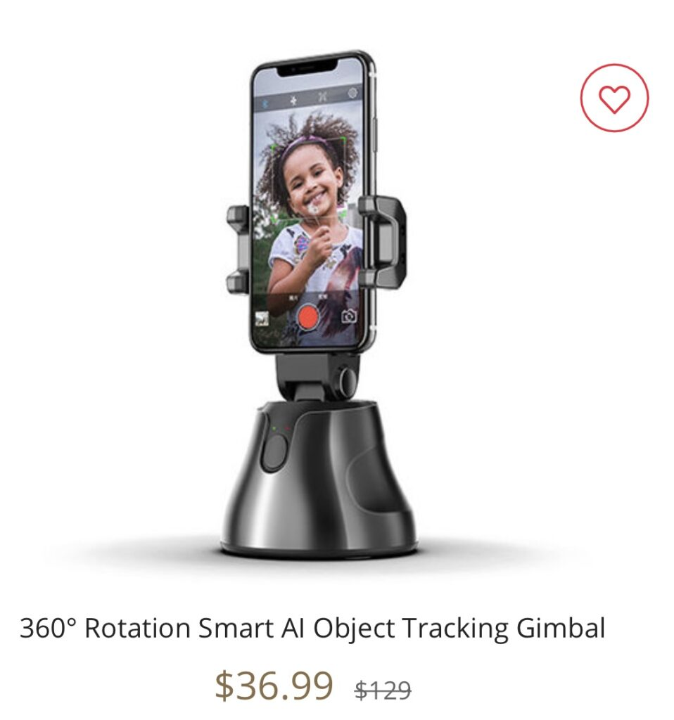 360º Rotation Smart Al Object Tracking Gimbal seen on the Kelly Clarkson Show