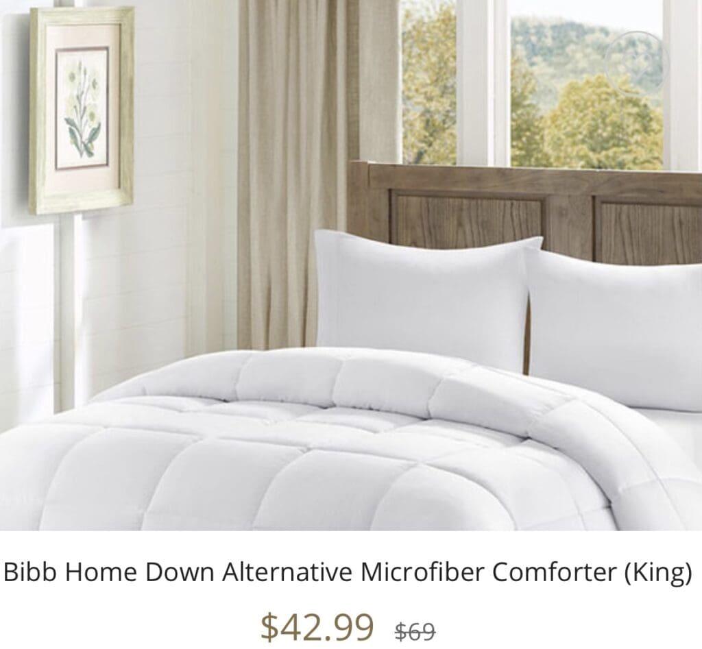 Bibb Home Down Alternative Microfiber Comforter (King) seen on the Kelly Clarkson Show