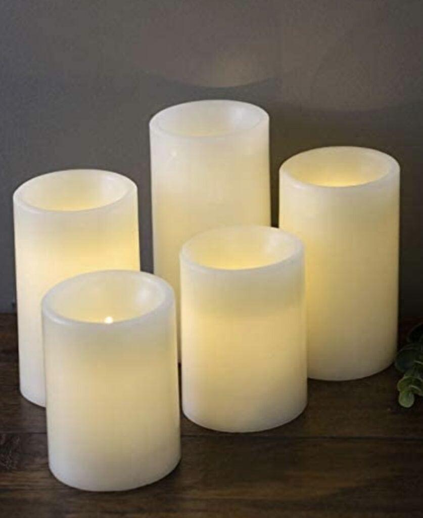 MARTHA STEWART 5 Flameless LED, Pillar Candles