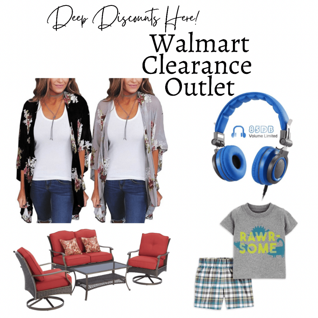 collage of items from Walmart clearance