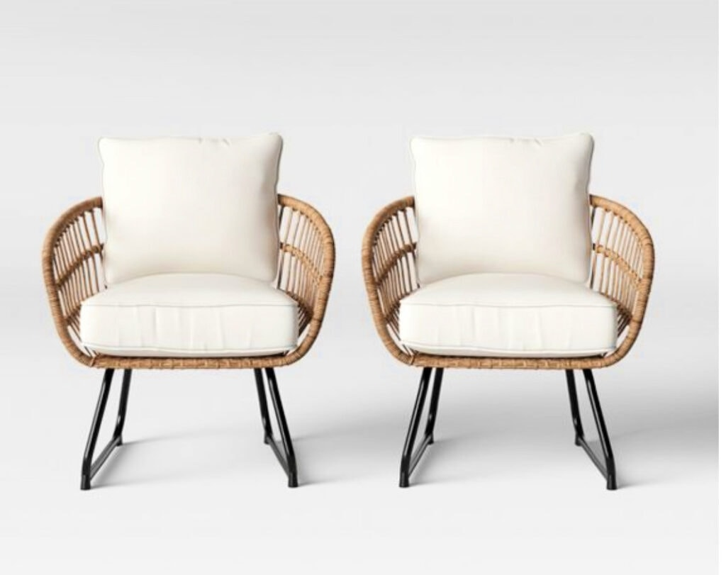 Southport 2pk Patio Club Chair Linen - Opalhouse™ Target patio refresh option