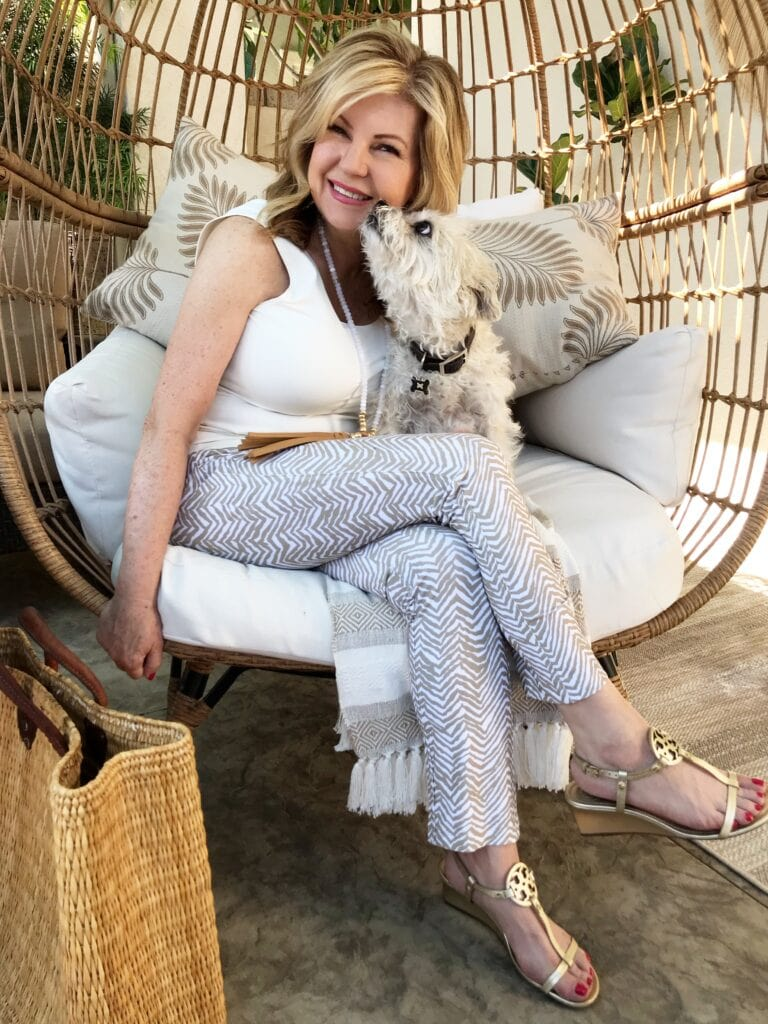Lori Felix in the Southport Patio Egg Chair from Target