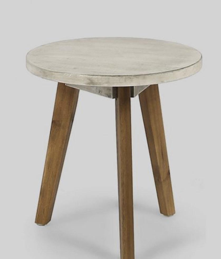Marina Acacia Wood Patio Side Table - Light Gray - Christopher Knight Home Target patio refresh option
