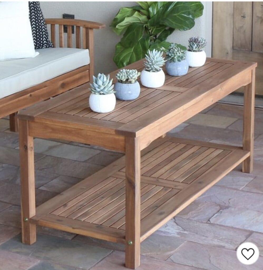 Acacia Wood Patio Coffee Table - Saracina Home
