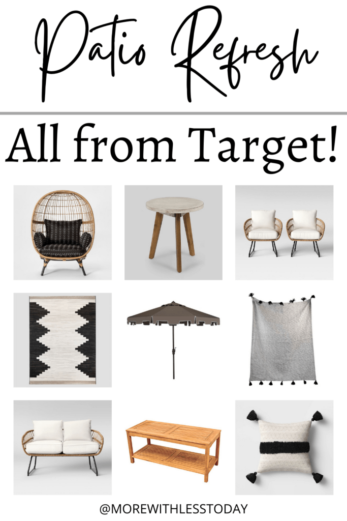 Patio decor for a patio refresh from Target
