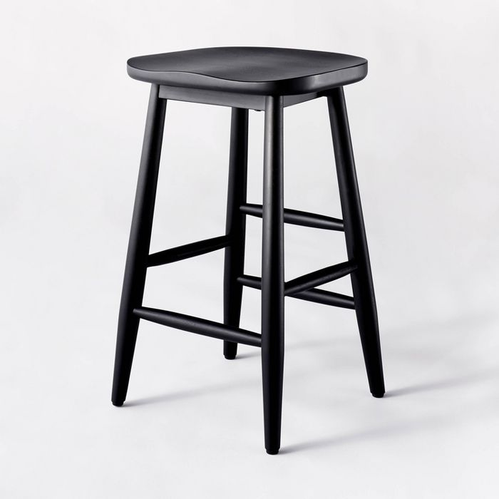 Haddonfield All Wood Backless Counter Height Barstool - Threshold™ designed with Studio McGee Home Decor from Target