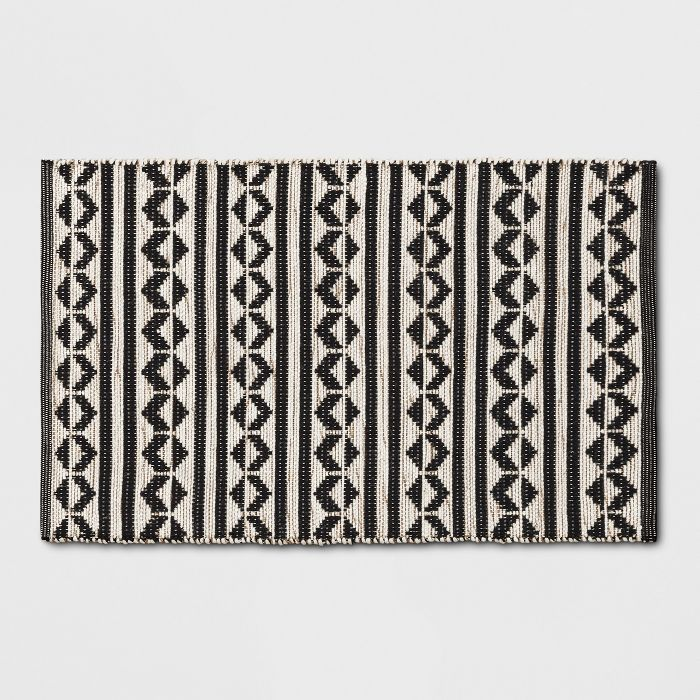 """2'6""""X4' Geometric Woven Accent Rugs Black - Project 62™ Home Decor from Target"""