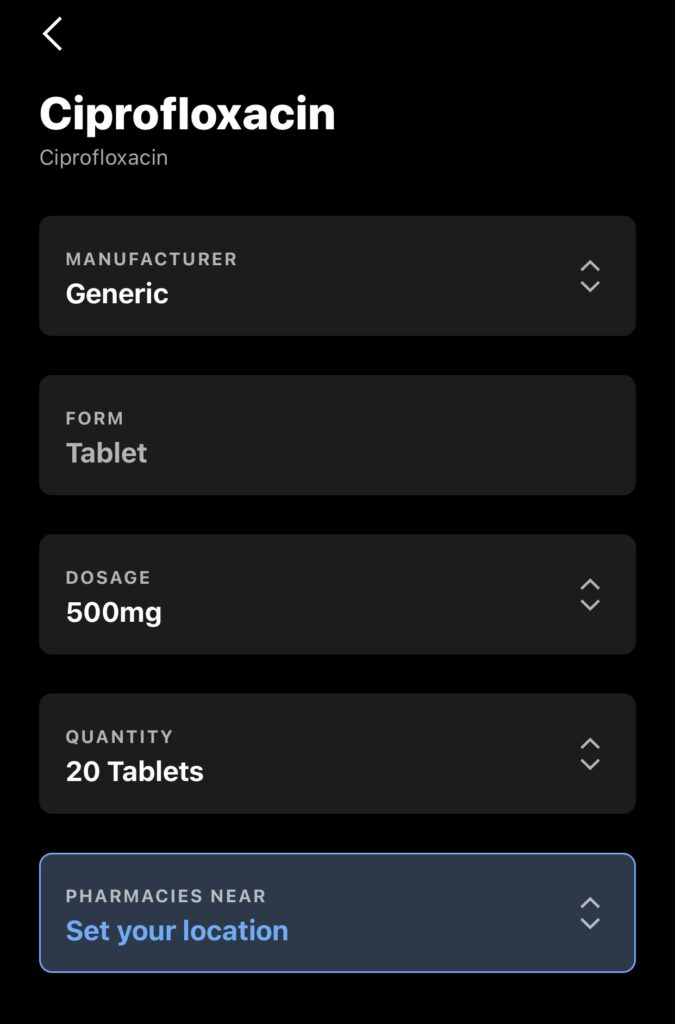 findidng RX and dosage in the Optum Perks mobile app