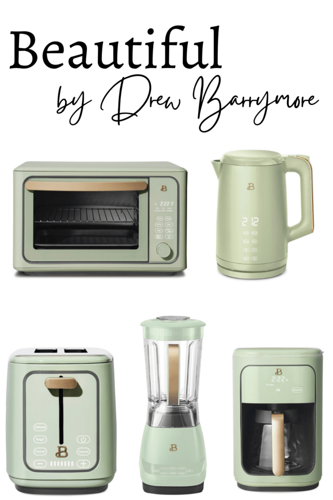 Beautiful by Drew Barrymore Kitchenware photo collage of available products