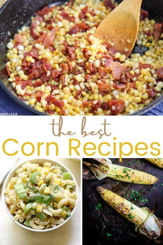 Collage of corn recipe photos