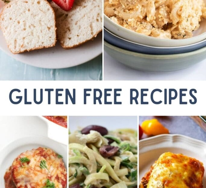 Gluten-Free recipes photo collage of GF dishes