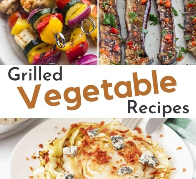 Grilled vegetable recipes collage of recipe ideas