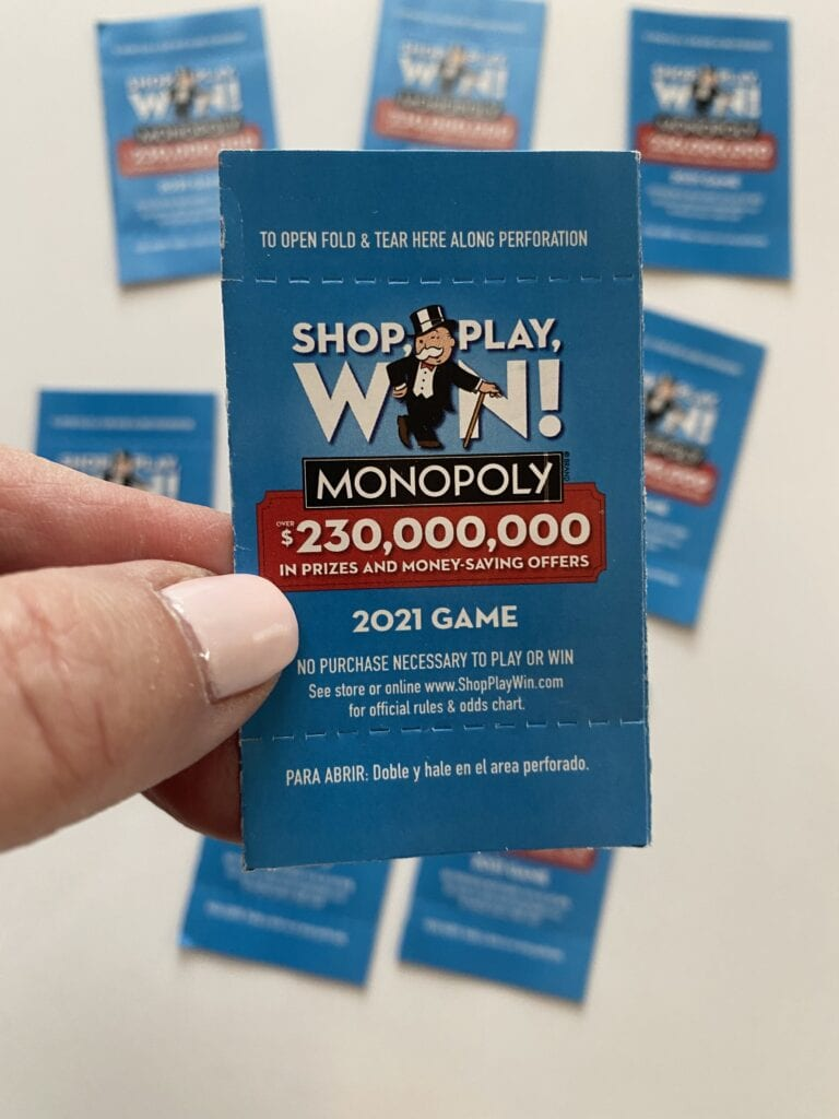 Shop Play Win Monopoly Game at Albertsons game piece